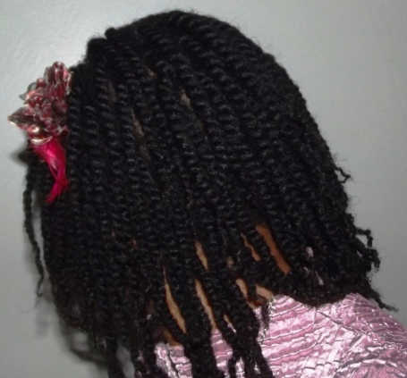 Want to achieve a longer 2 Strand Twist? Do a Roller Set a day before, let it completely dry, then next day, proceed with your 2 Strand Twists.