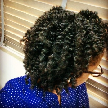 three strand twist out