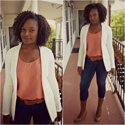 balcony white denim jacket